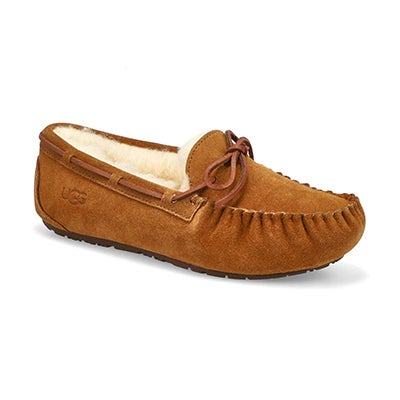 Grls Dakota chestnut suede moccasin
