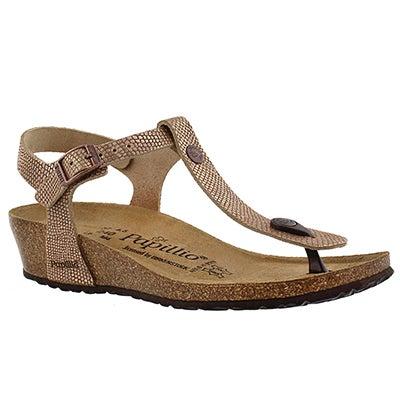 Birkenstock Women's ASHLEY brown python thong sandals - Narrow