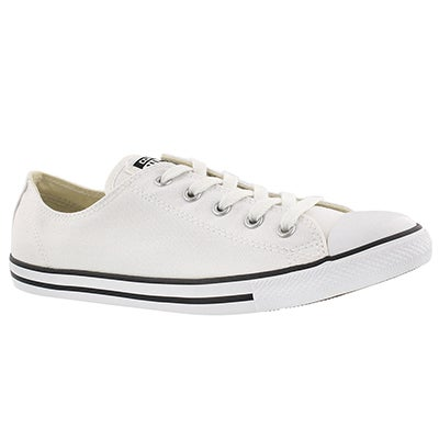 Lds CT AllStar Dainty Canvas white ox
