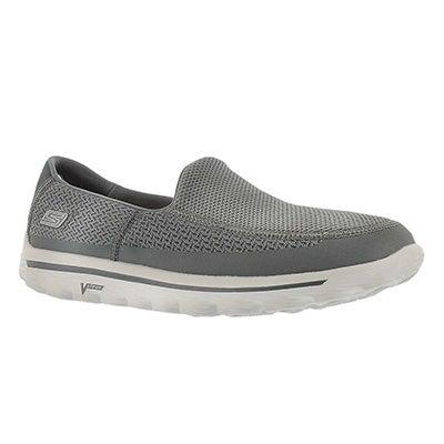 Skechers Men's GOwalk 2 charcoal mesh slip on sneakers
