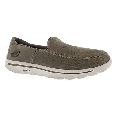Skechers Men's GOwalk 2 MAINE taupe canvas slip on shoes
