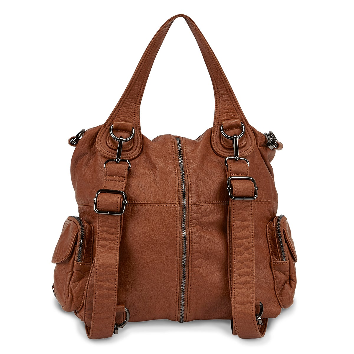 Lds cognac washed convert. backpack