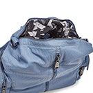Lds denim blu washed convert. backpack