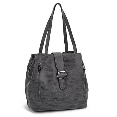 Co-Lab Women's 5375 dark grey buckle up tote bag
