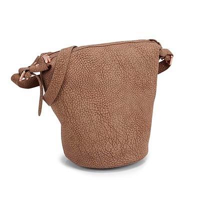 Lds sand bucket cross body bag