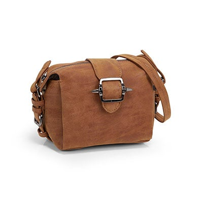 Co-Lab Women's 5378 camel buckle cross body bag