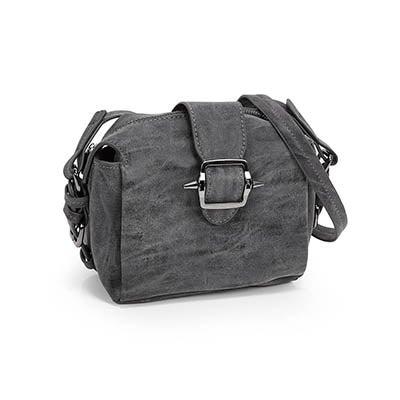 Co-Lab Women's 5378 grey buckle cross body bag