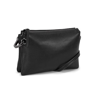 Lds black mini cross body bag