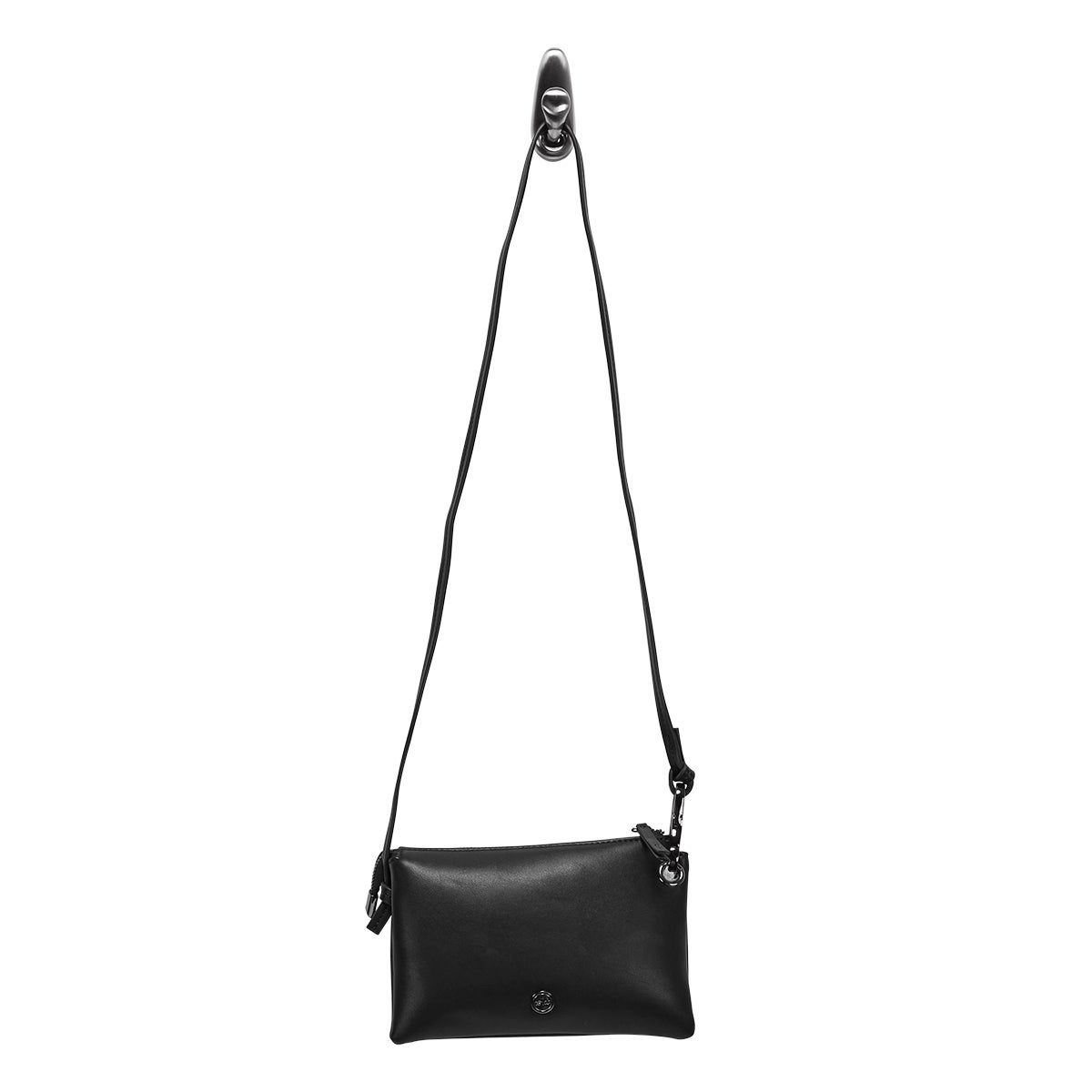 Lds black mini cross body bag