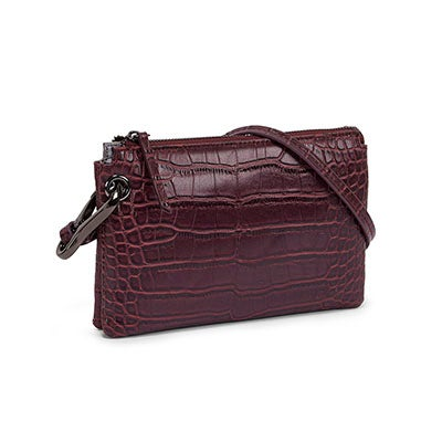 Co-Lab Women's 5380 wine mini cross body bag