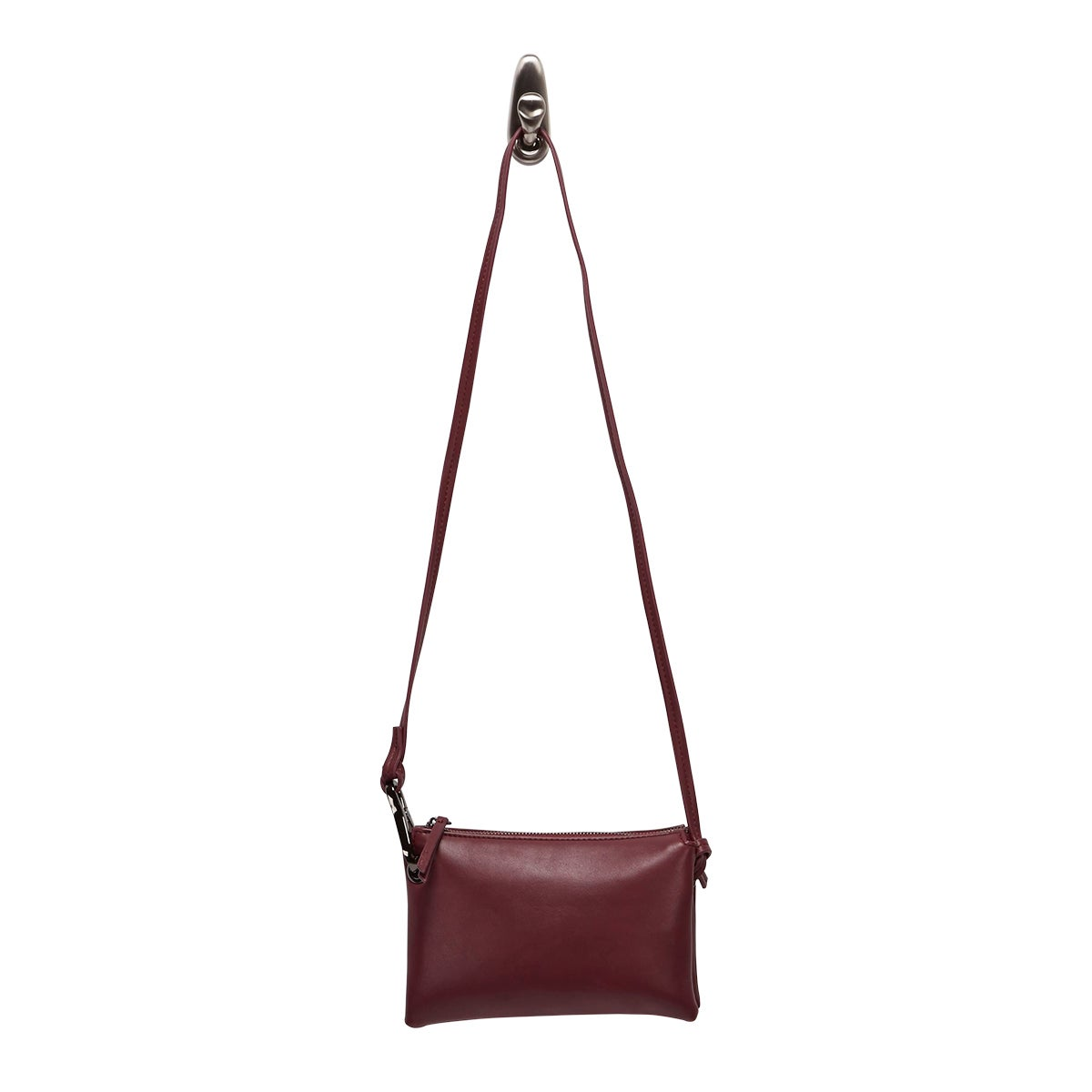 Lds wine mini cross body bag