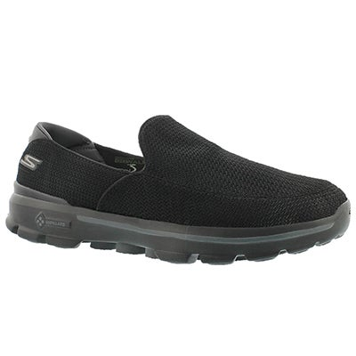 Skechers Men's GOwalk 3 black slip on shoes