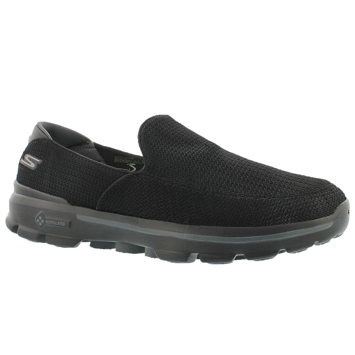 Men's GOwalk 3 black slip on shoes