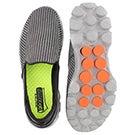 Mns GOwalk 3 char/orng slip on shoe