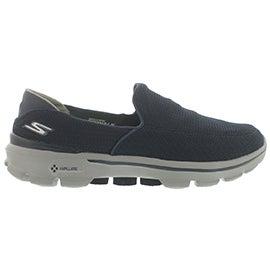Mns GOwalk 3 navy/gry slip on shoe