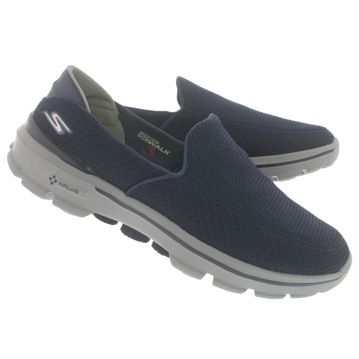 Mns GOwalk 3 navy/gry slip on shoe