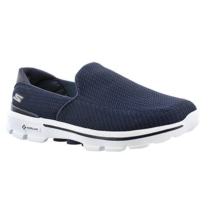 Skechers Men's GOwalk 3 navy/white slip on shoes