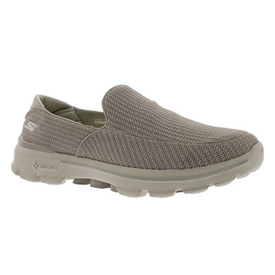Skechers Flâneurs en maille GOwalk 3, pierre, hommes