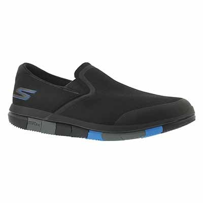 Skechers Men's GO FLEX black/blue walking shoes
