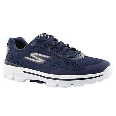 Skechers Men's GOwalk 3 navy lace up shoes
