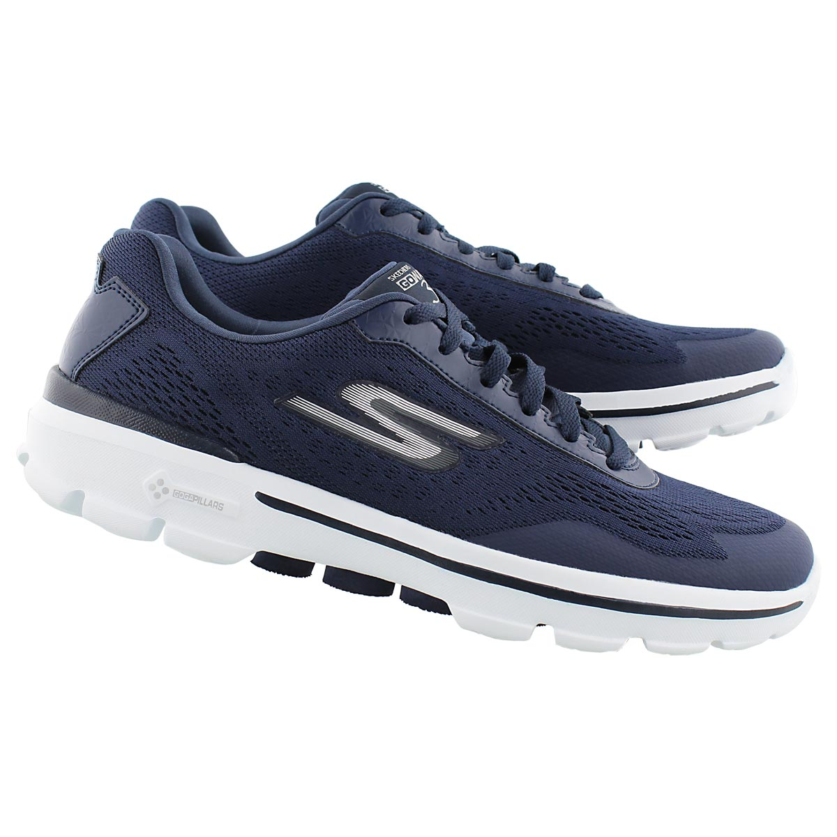 Mns GOwalk 3 nvy lace-up running shoe