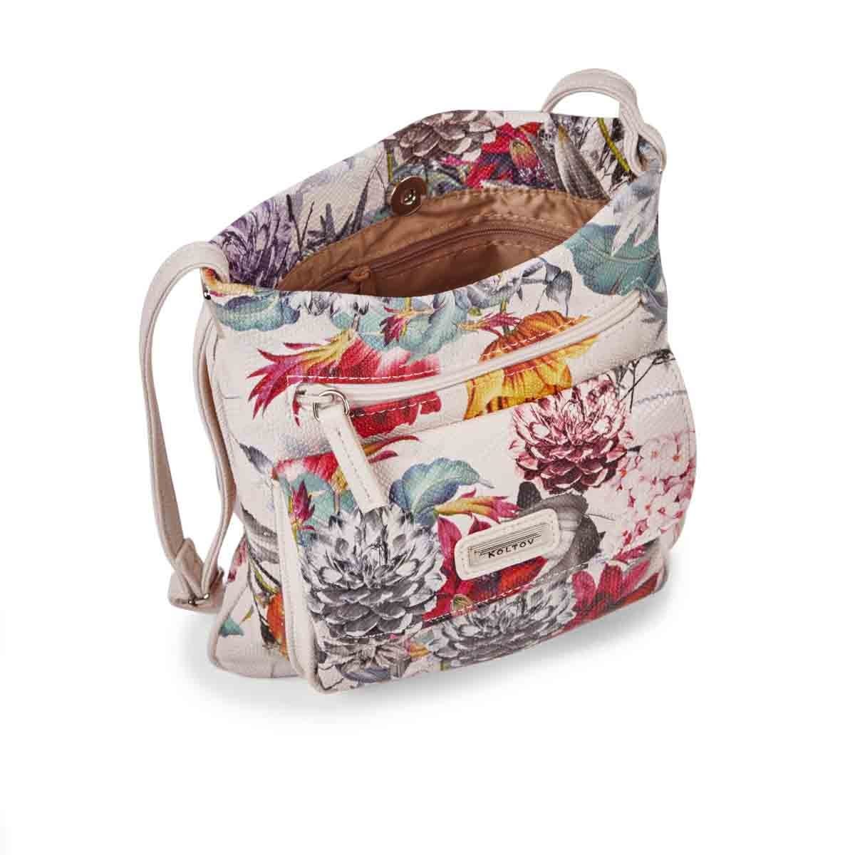 Lds Harper floral multi cross body bag
