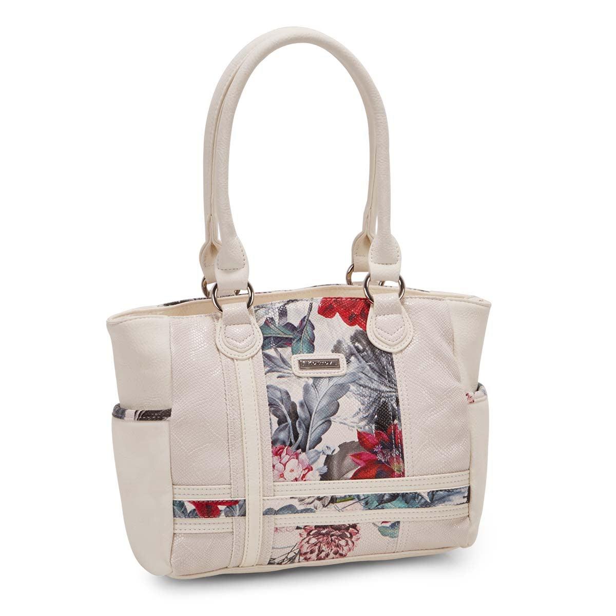 Lds Clark floral multi satchel