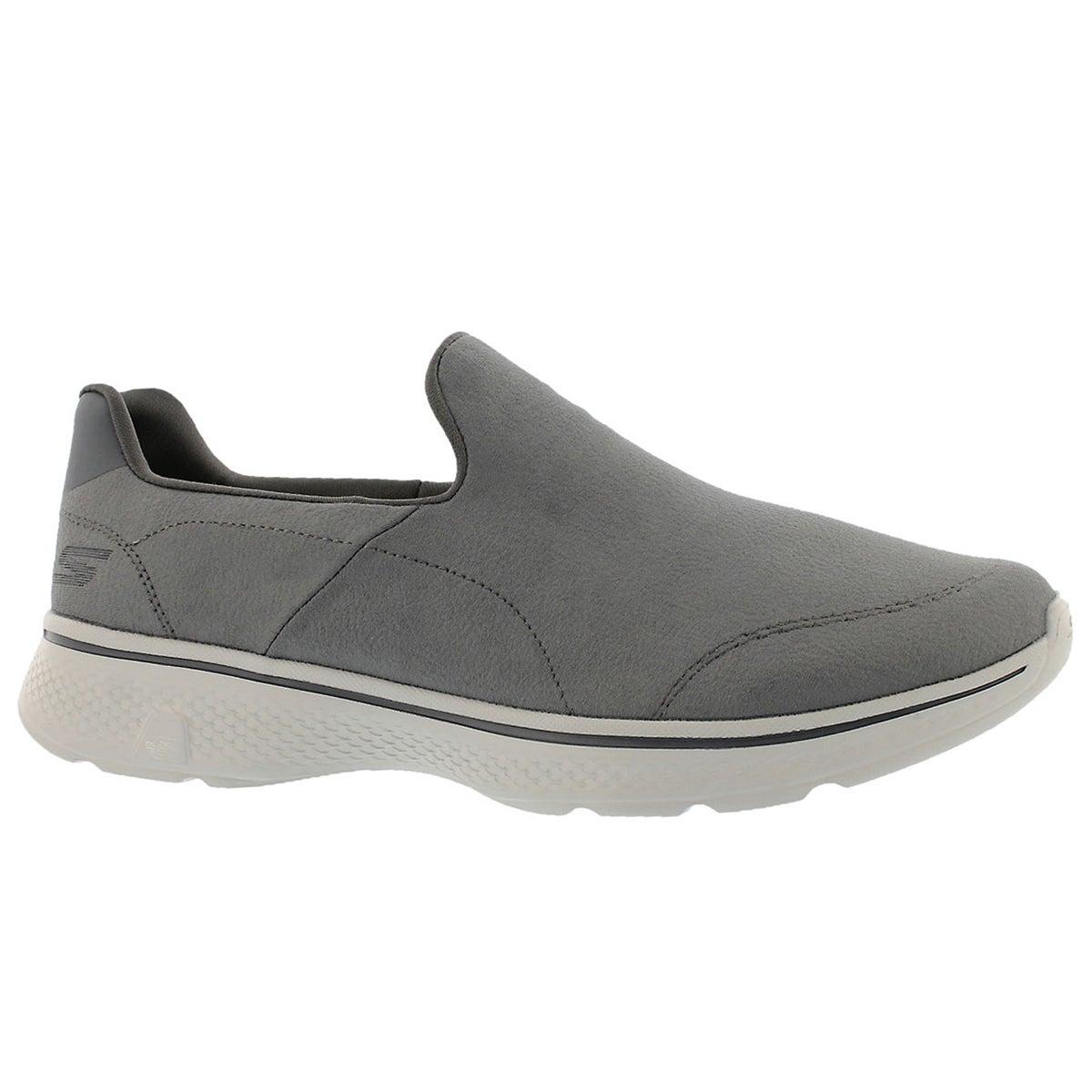 Men's GOwalk 4 REMARKABLE charcoal slip on shoes