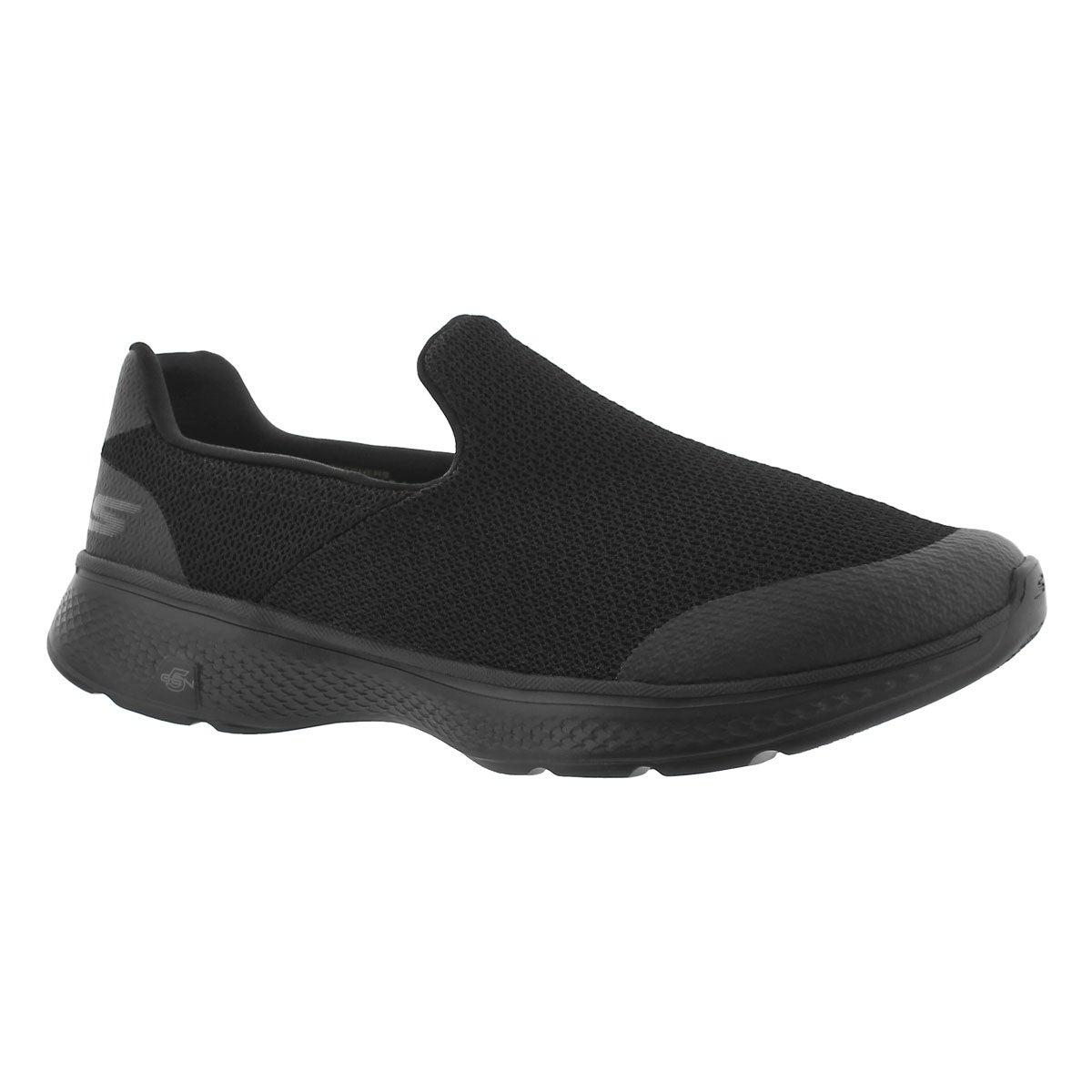 Men's GOwalk 4 black slip on shoes