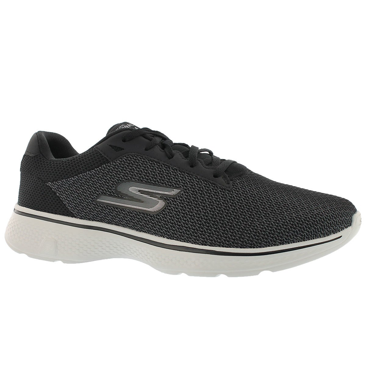 Men's GOwalk 4 black/grey laceup walking shoes
