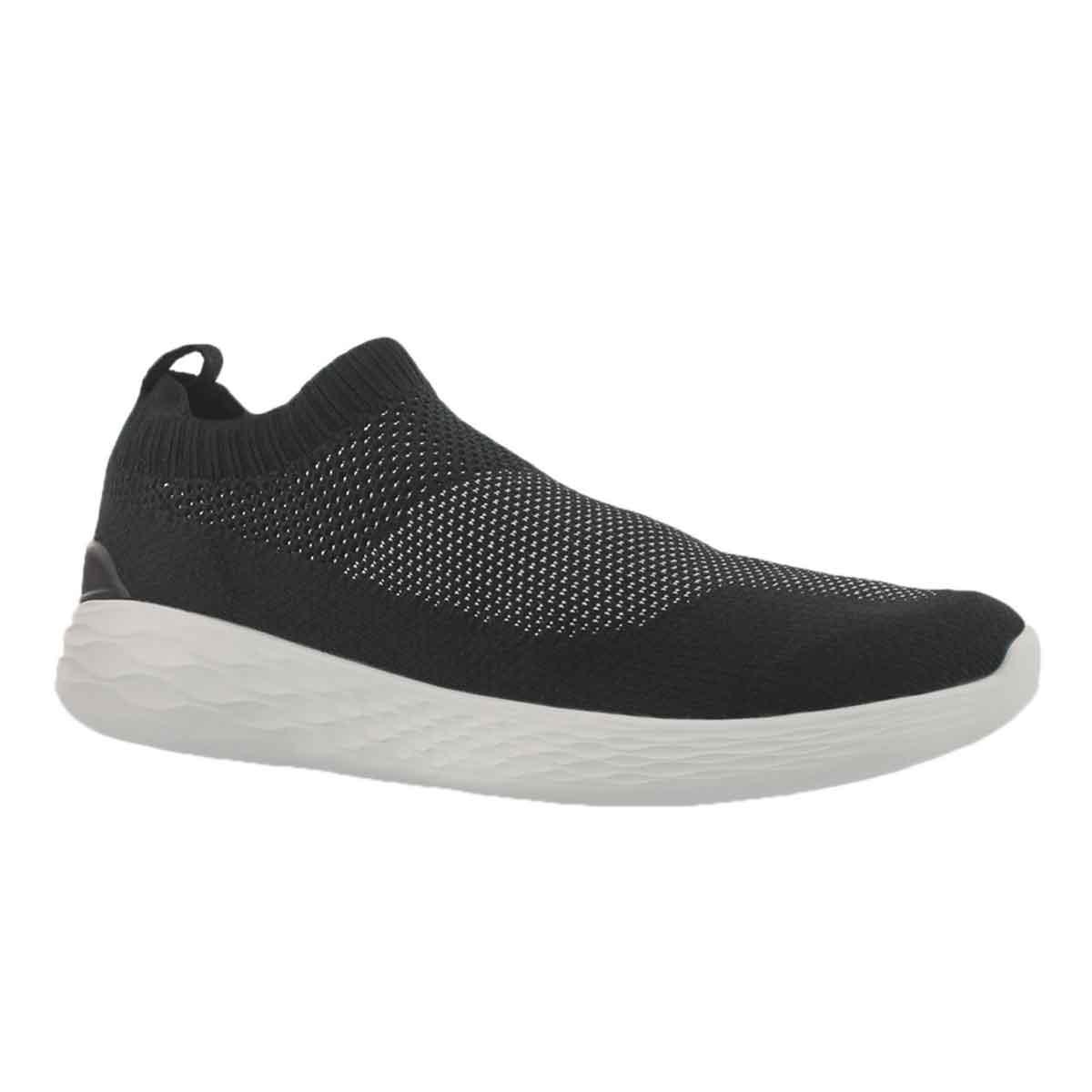Men's GO STRIKE black/white slip on shoes