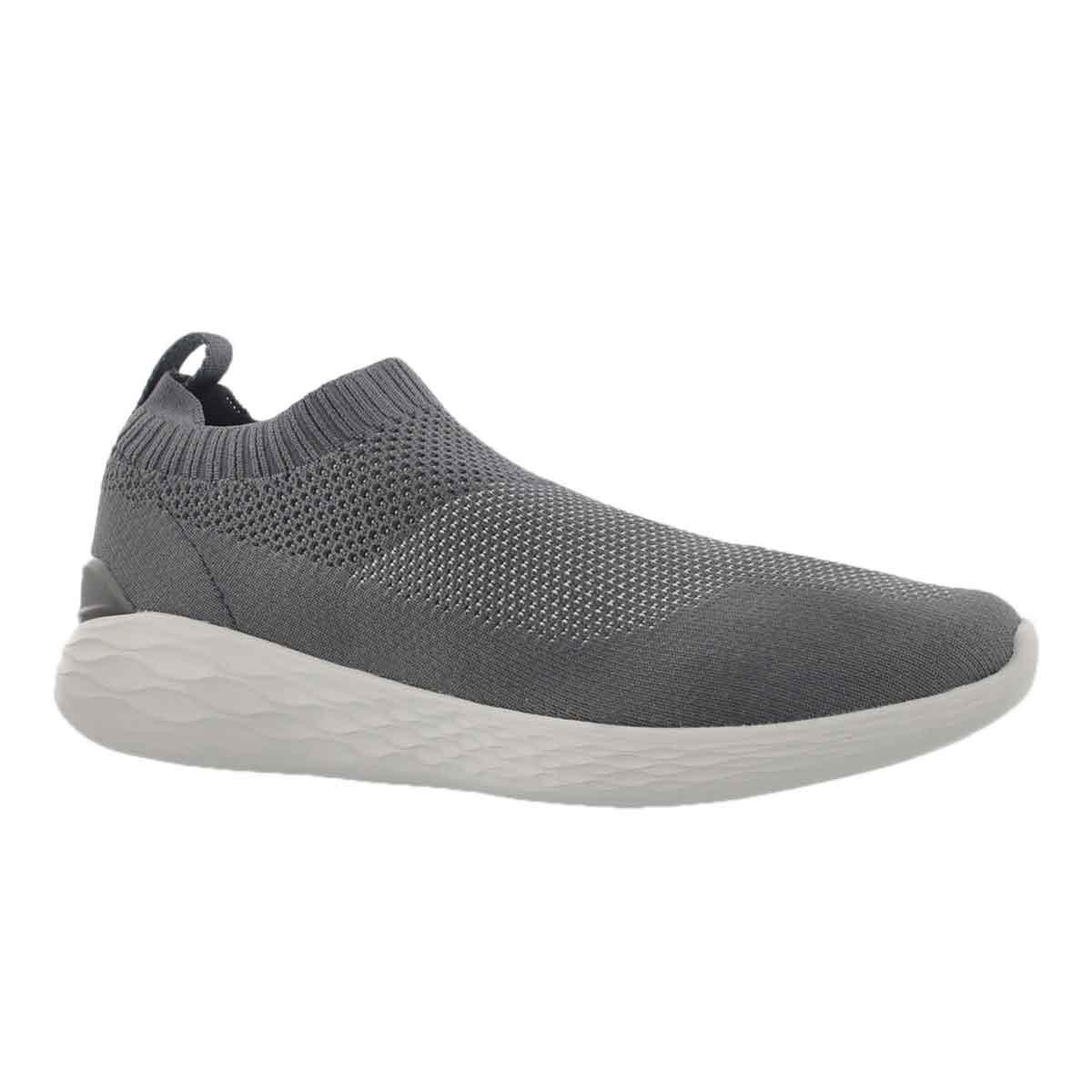 Men's GO STRIKE charcoal slip on shoes