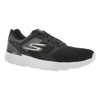 Skechers Men's GOrun 400 black lace up running shoes