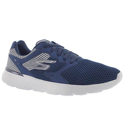 Skechers Men's GOrun 400 navy lace up running shoes