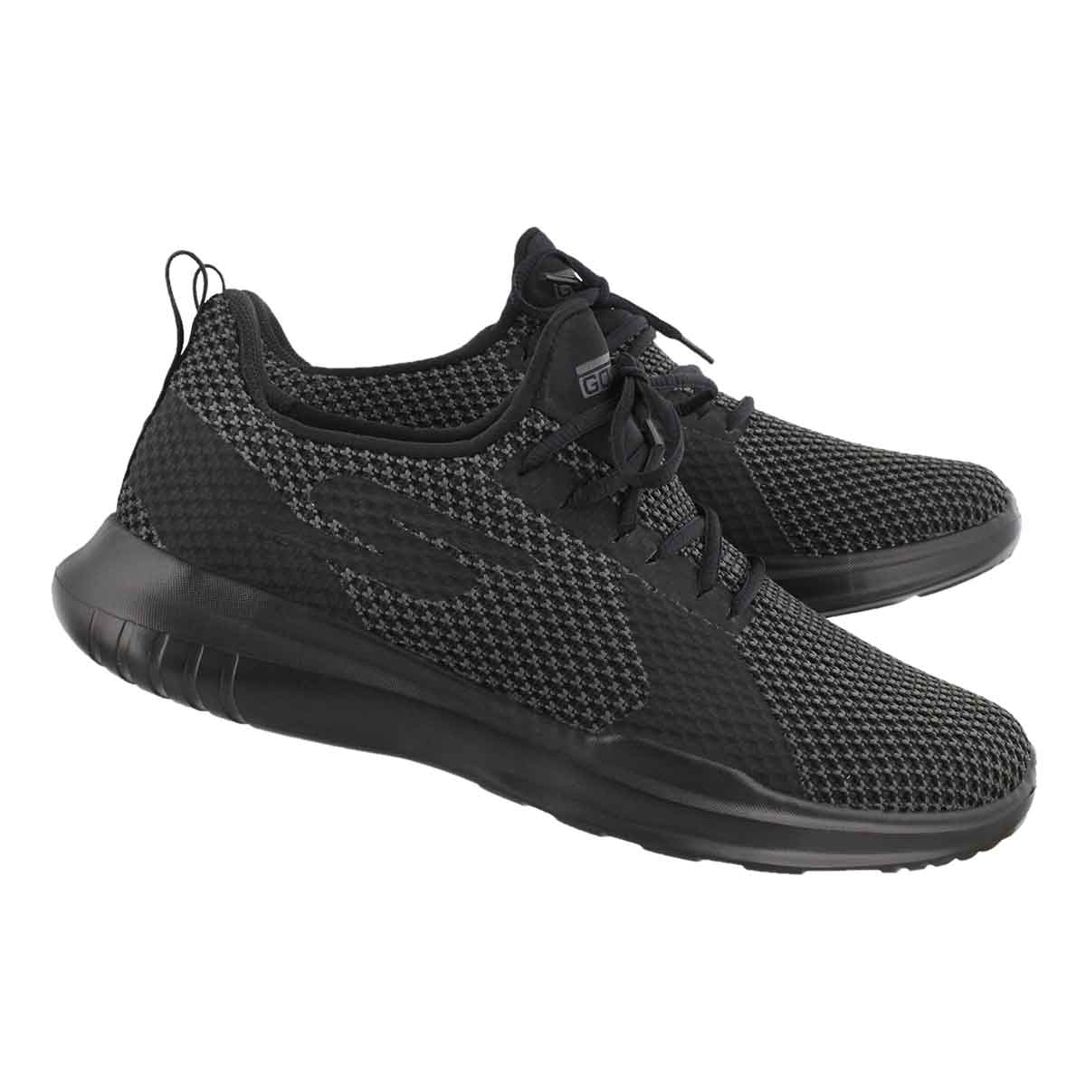 Mns Go Run Mojo Pep blk lace up runner