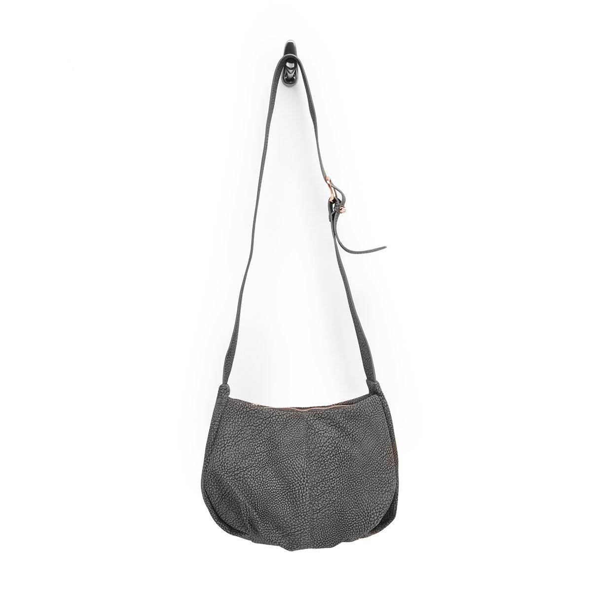 Lds grey 3 compartment cross body bag