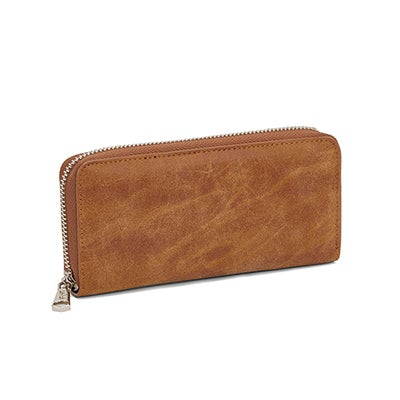 Co-Lab Women's 5451 camel zip around wallet