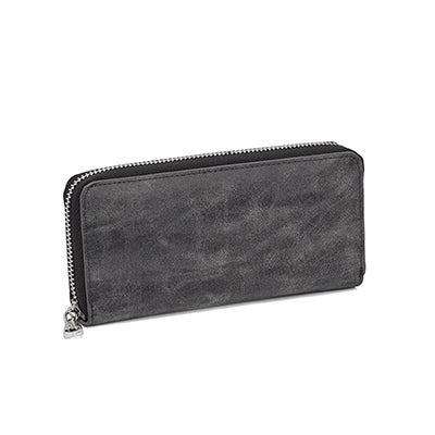 Co-Lab Women's 5451 grey zip around wallet