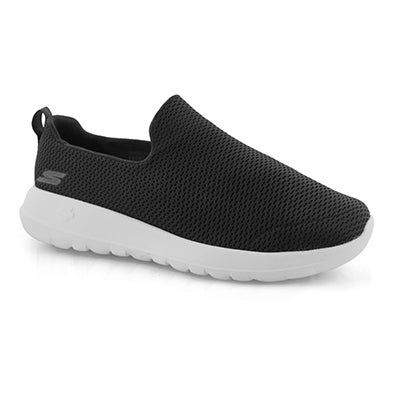 Mns GOwalk Max blk/wht slipon shoe-wide