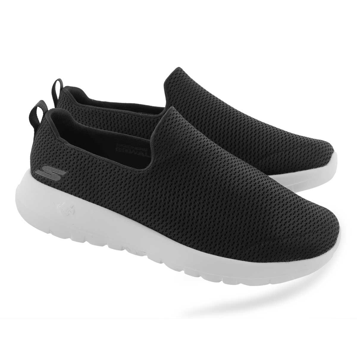 Mns GOwalk Max blk/wht slipon shoe-wide