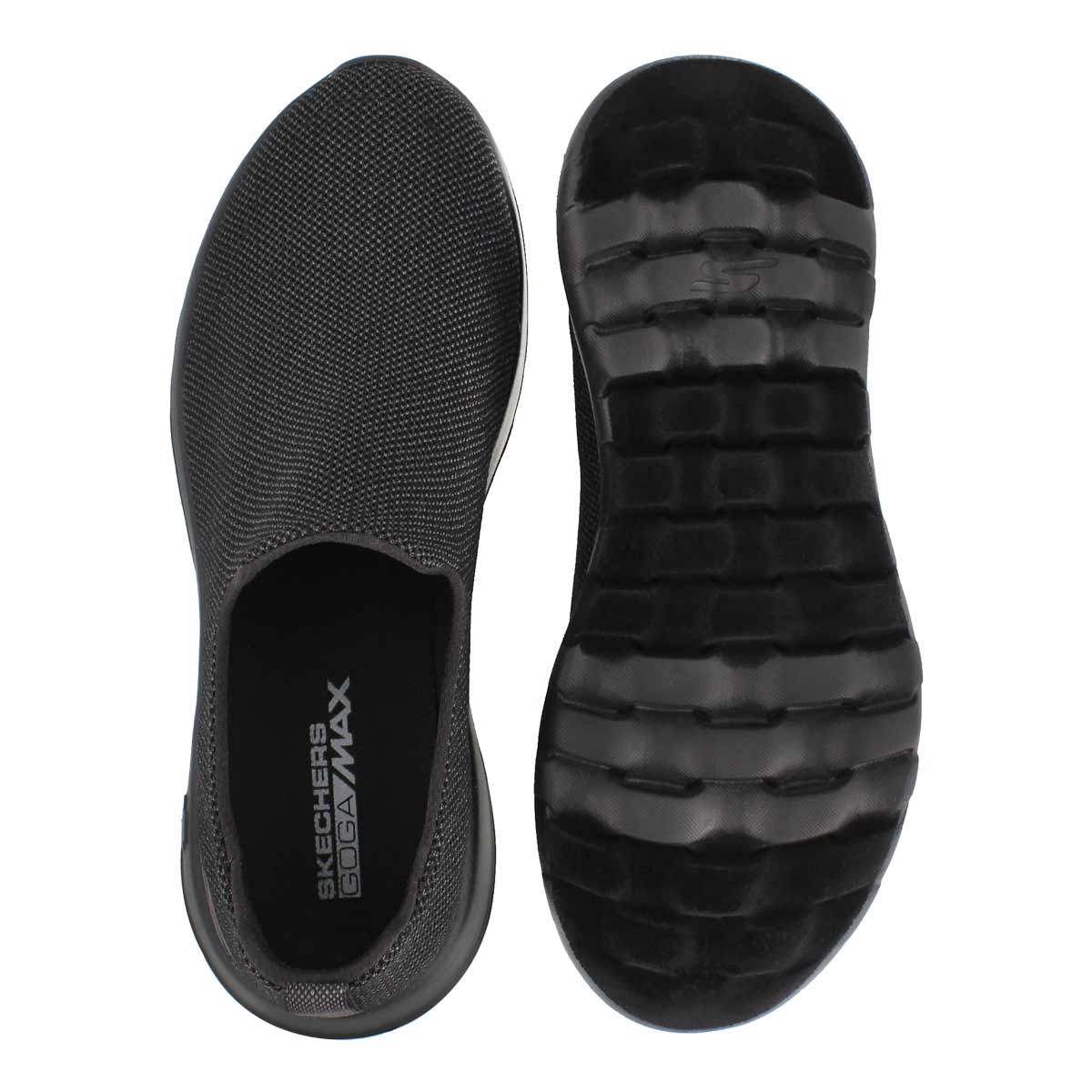 Mns GO Walk Max black slip on shoe
