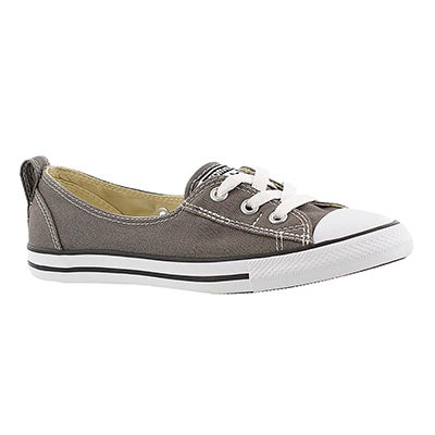 Converse Women's CT ALL STAR BALLET LACE charcoal slip-ons