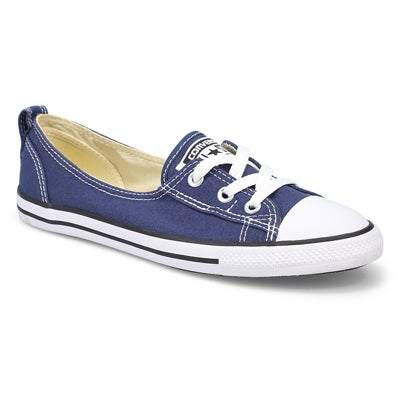 Converse Women's CT ALL STAR BALLET LACE navy slip-ons
