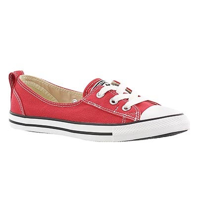 Converse Women's CT ALL STAR BALLET LACE red slip-ons
