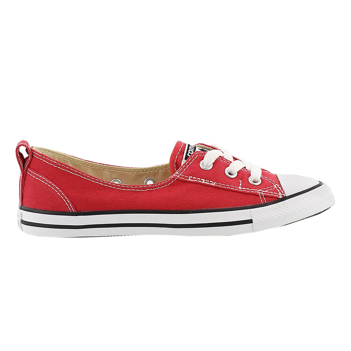 Lds CT A/S Ballet Lace red slip on