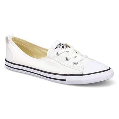 Lds CTAS Ballet Lace Core wht slip on