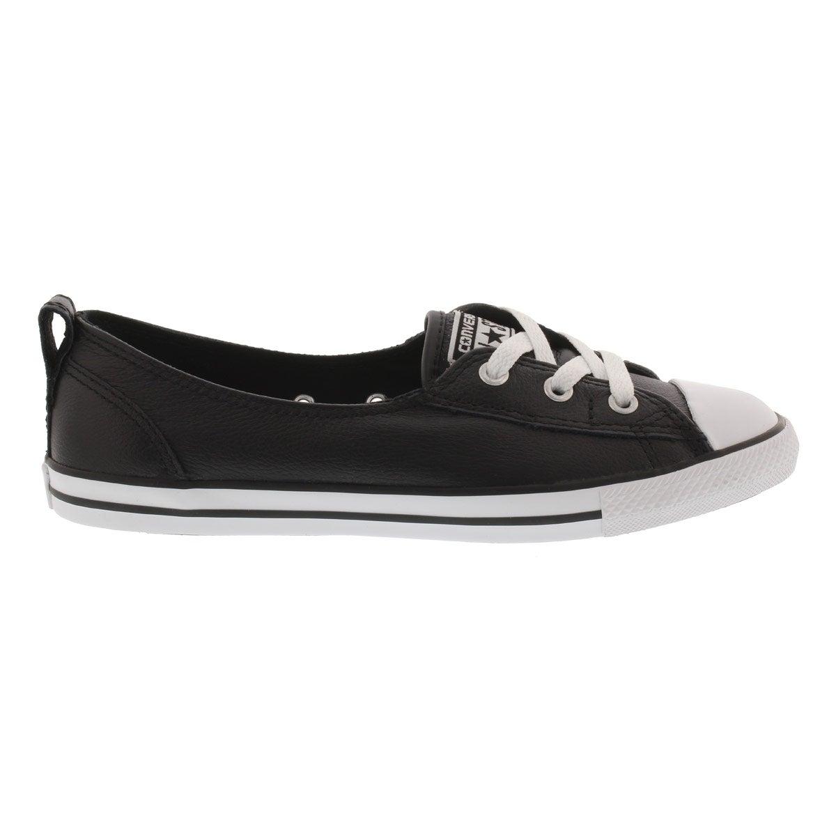 Lds CT A/S Ballet Lace black lthr sneakr