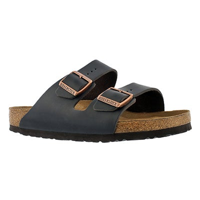 Birkenstock Men's ARIZONA soft footbed brown 2 strap sandals