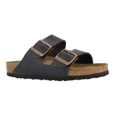Lds Arizona brown 2 strap lthr sandal SF