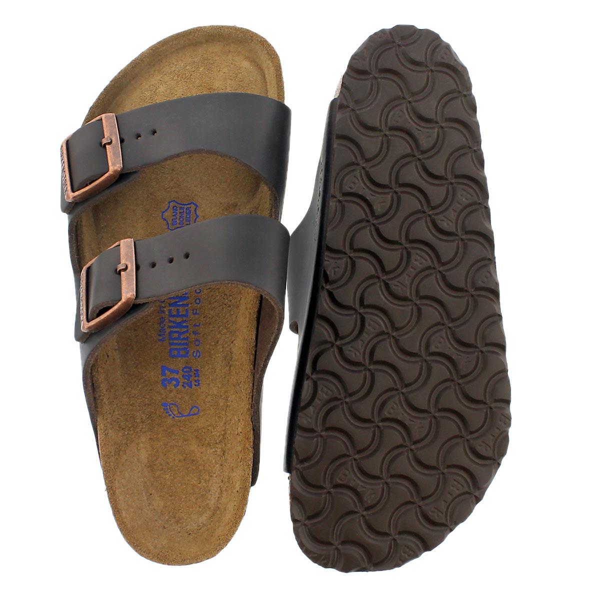 Lds Arizona brown 2 strap lthr sandal SF